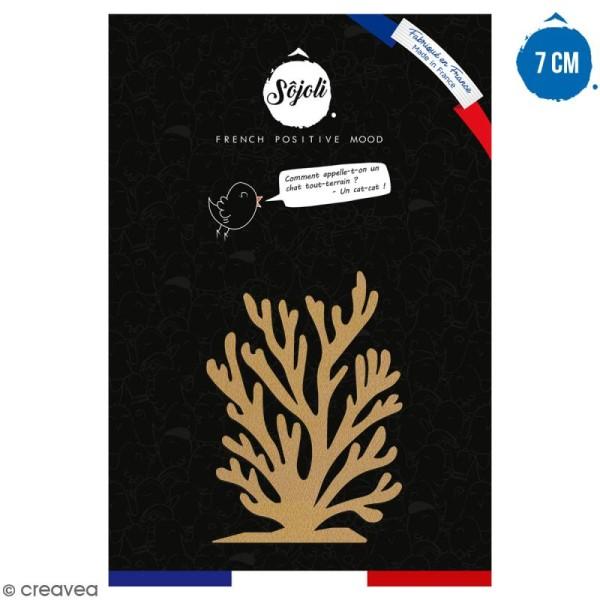 Algue en bois à décorer - 7 cm - Collection Sirène - Photo n°1