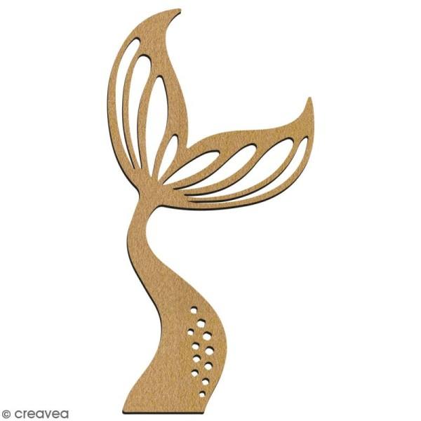 Queue de sirène ondulée en bois à décorer - 7 cm - Collection Sirène - Photo n°2