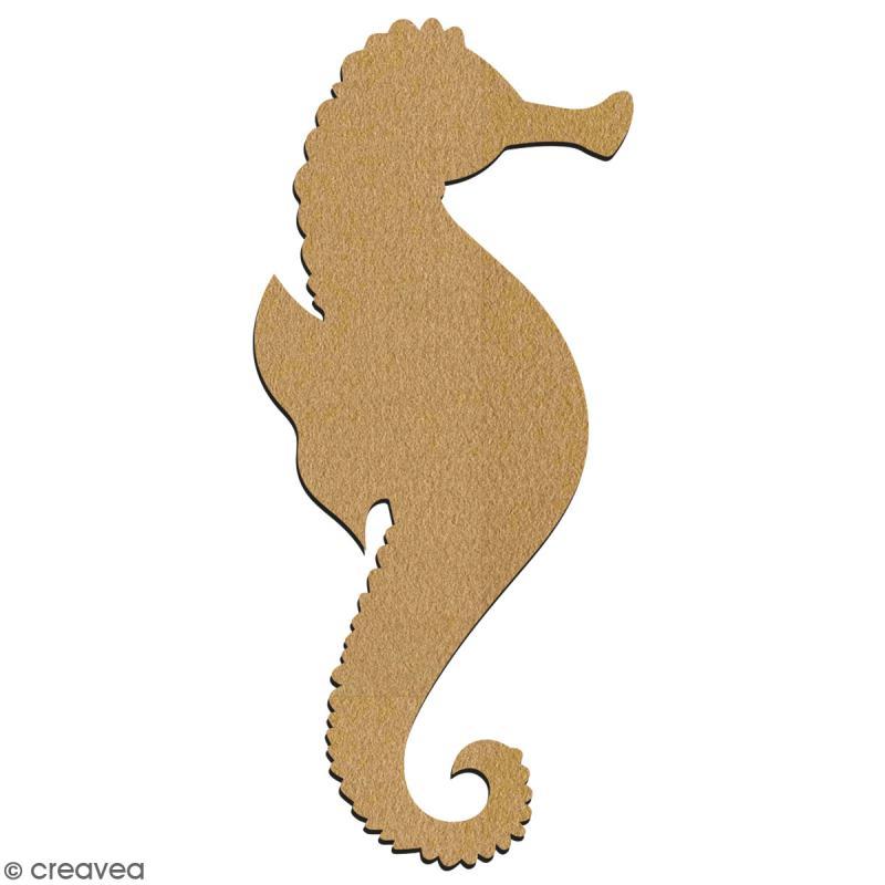 Hippocampe en bois à décorer - 7 cm - Collection Sirène - Photo n°2