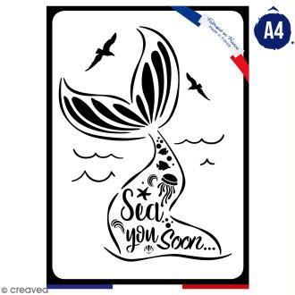Pochoir multiusage A4 - Sea you Soon - 1 planche - Collection Sirène