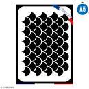 Pochoir multiusage A5 - Motif écailles - 1 planche - Collection Sirène