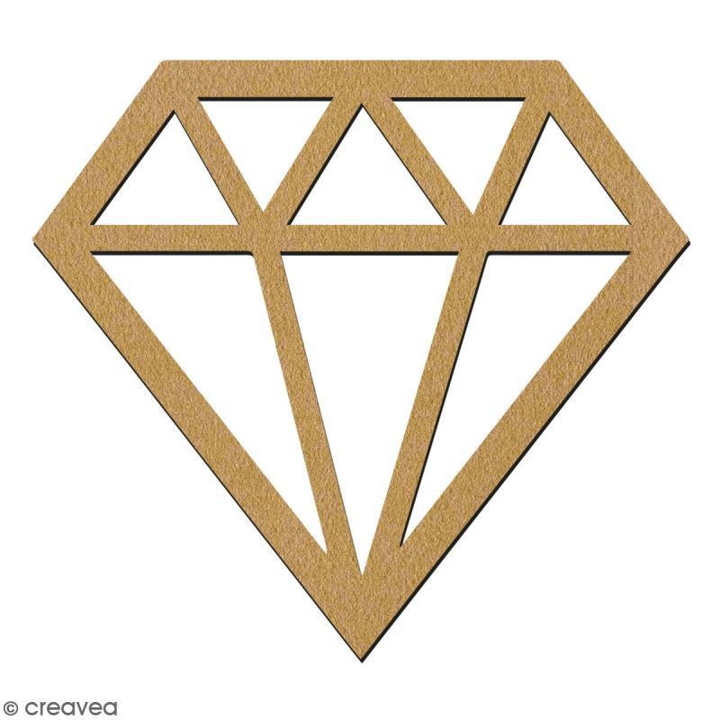 Diamant en bois à décorer - 7 cm - Collection Licorne - Photo n°2