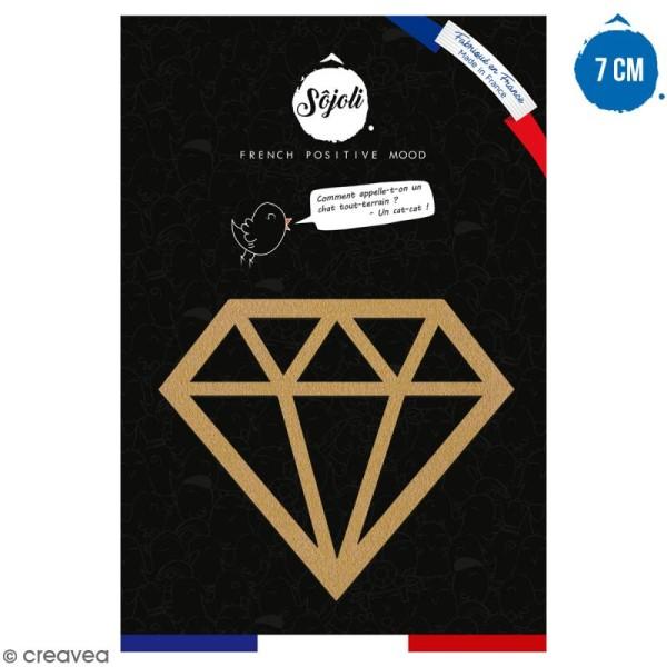 Diamant en bois à décorer - 7 cm - Collection Licorne - Photo n°1
