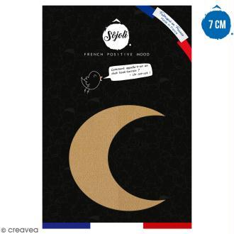 Croissant de lune en bois à décorer - 7 cm - Collection Licorne