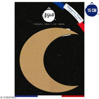Croissant de lune en bois à décorer - 15 cm - Collection Licorne