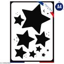 Pochoir multiusage A4 - Etoile - 1 planche - Collection Licorne - Photo n°1