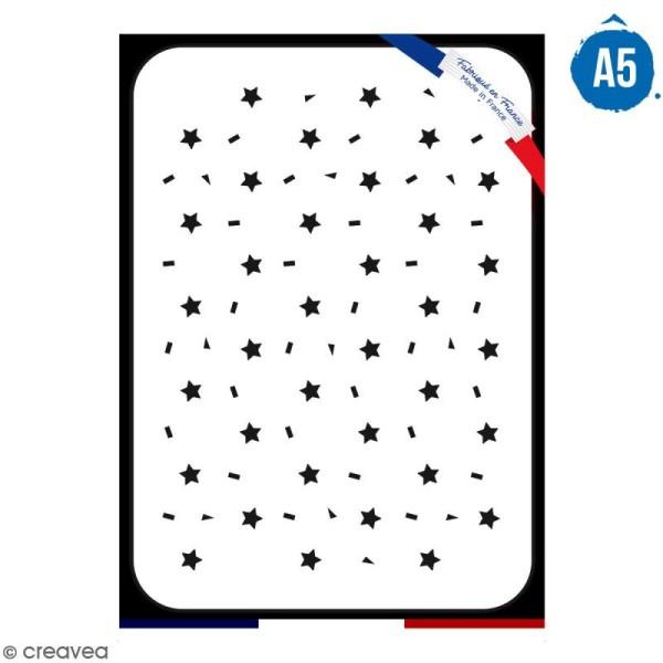 Pochoir multiusage A5 - Motif étoile - 1 planche - Collection Licorne - Photo n°1