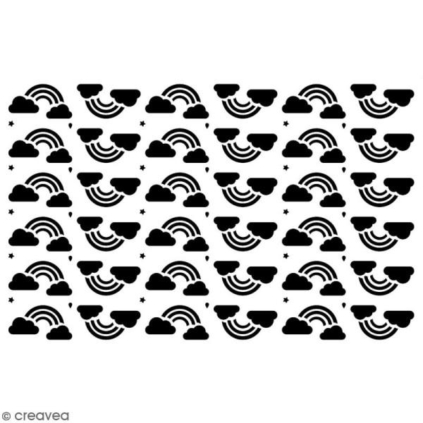 Pochoir multiusage A5 - Motif arc-en-ciel - 1 planche - Collection Licorne - Photo n°2