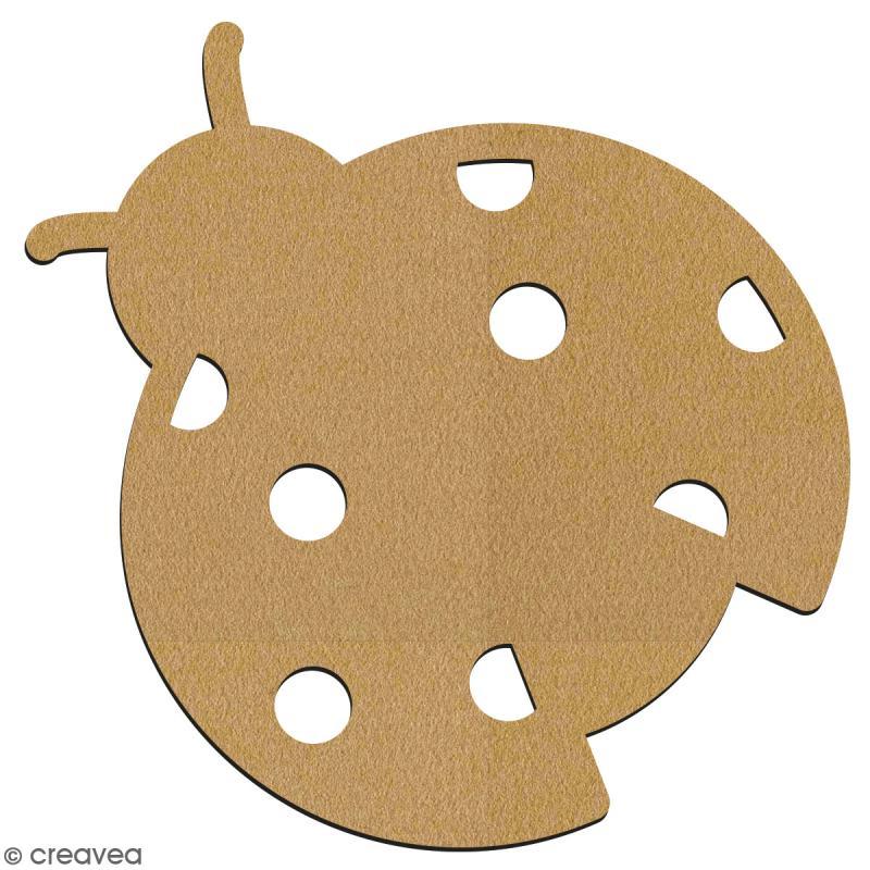 Coccinelle en bois à décorer - 7 cm - Collection Champêtre - Photo n°2
