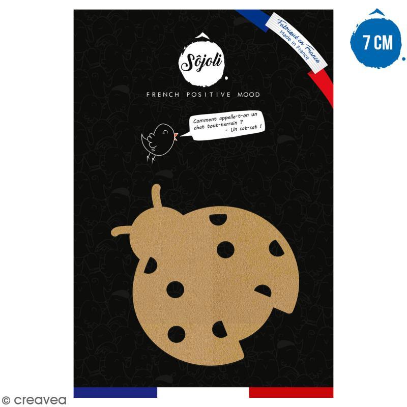Coccinelle en bois à décorer - 7 cm - Collection Champêtre - Photo n°1