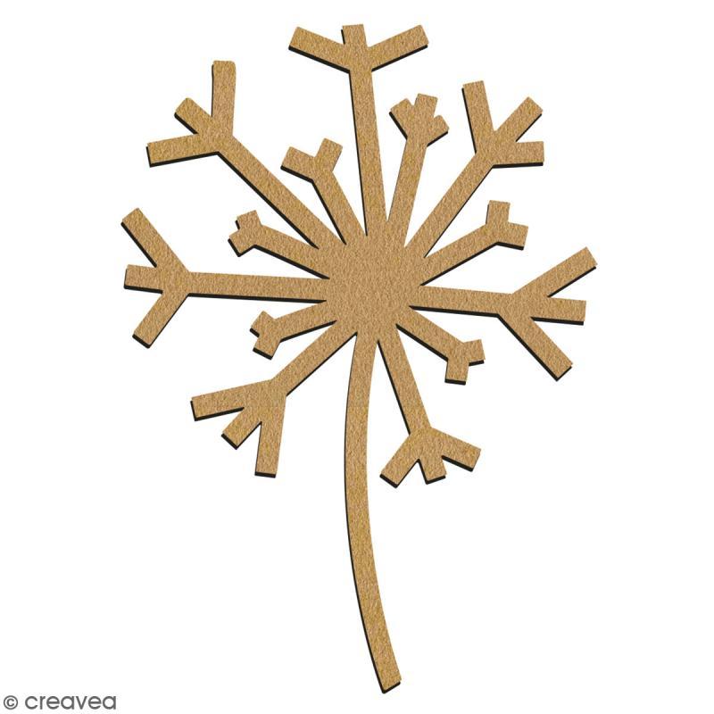 Pissenlit en bois à décorer - 7 cm - Collection Champêtre - Photo n°2