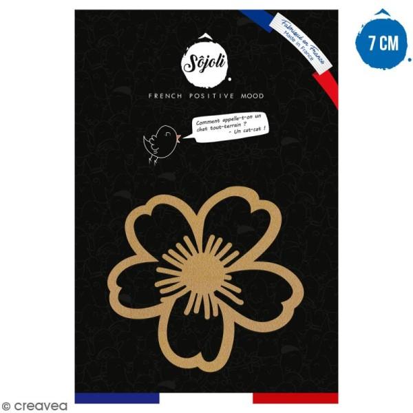 Fleur Daisy en bois à décorer - 7 cm - Collection Champêtre - Photo n°1