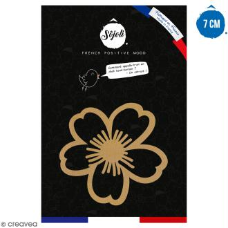 Fleur Daisy en bois à décorer - 7 cm - Collection Champêtre