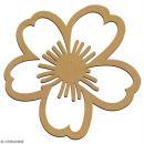 Fleur Daisy en bois à décorer - 7 cm - Collection Champêtre - Photo n°2