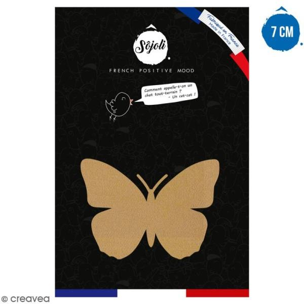 Papillon en bois à décorer - 7 cm - Collection Champêtre - Photo n°1