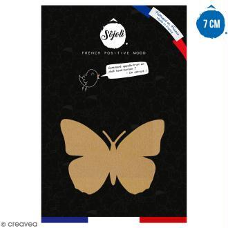 Papillon en bois à décorer - 7 cm - Collection Champêtre
