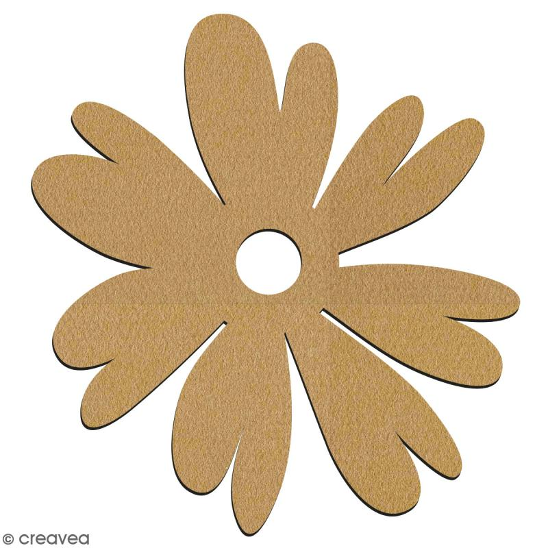 Pivoine en bois à décorer - 7 cm - Collection Champêtre - Photo n°2