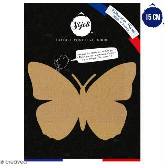 Papillon en bois à décorer - 15 cm - Collection Champêtre