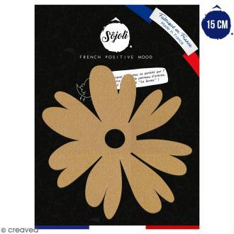 Pivoine en bois à décorer - 15 cm - Collection Champêtre
