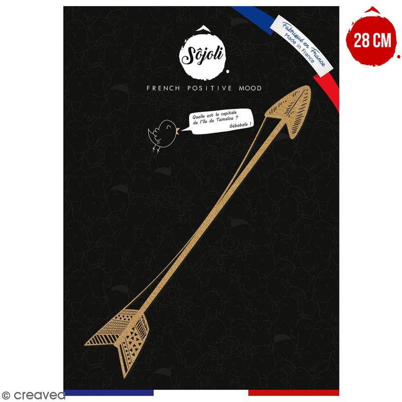 Flèche en bois à décorer - 28 cm - Collection Champêtre - Photo n°1