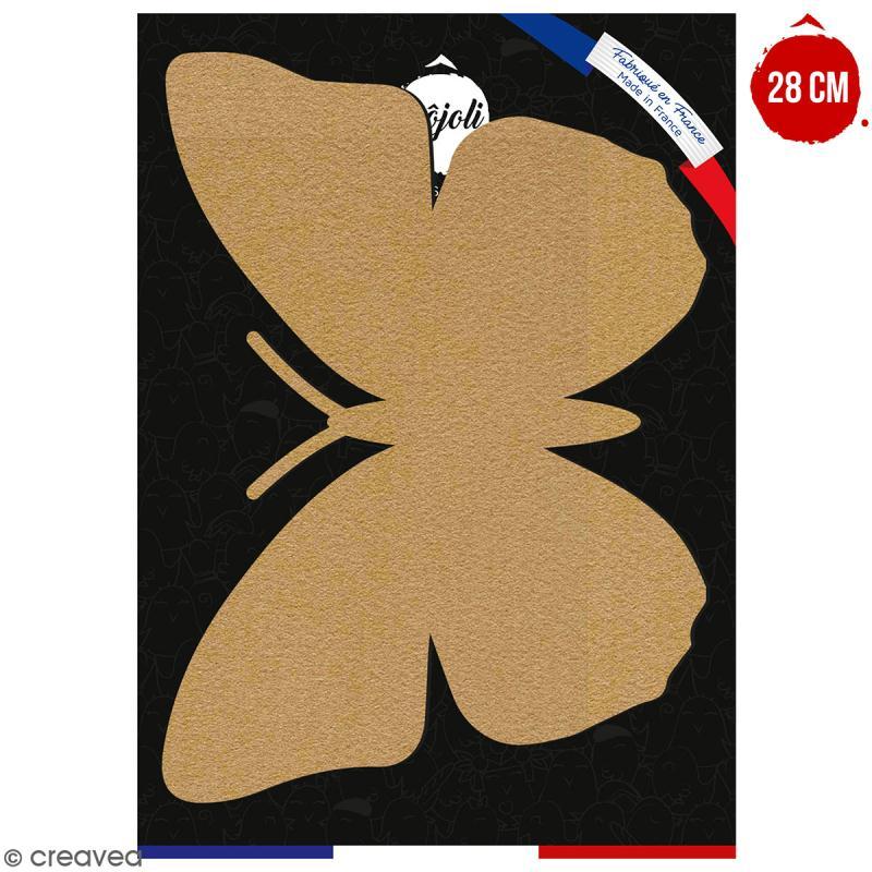 Papillon en bois à décorer - 28 cm - Collection Champêtre - Photo n°1