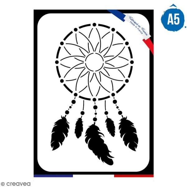 Pochoir multiusage A5 - Attrape-rêves - 1 planche - Collection Champêtre - Photo n°1