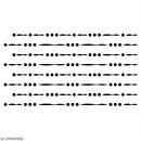 Pochoir multiusage A5 - Motif perles - 1 planche - Collection Champêtre - Photo n°2