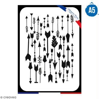 Pochoir multiusage A5 - Motif flèches - 1 planche - Collection Champêtre