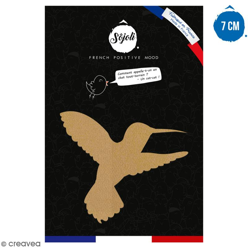Colibri en bois à décorer - 7 cm - Collection Summer - Photo n°1