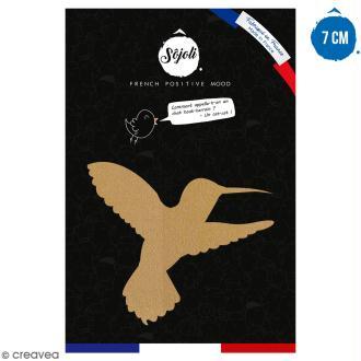 Colibri en bois à décorer - 7 cm - Collection Summer