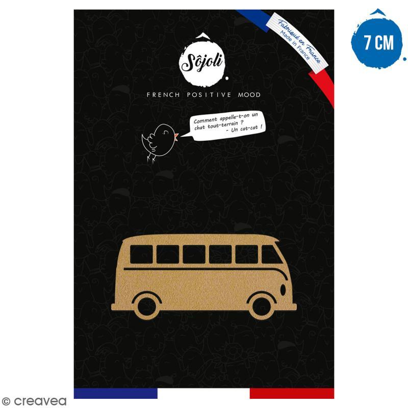 Van  en bois à décorer - 7 cm - Collection Summer - Photo n°1