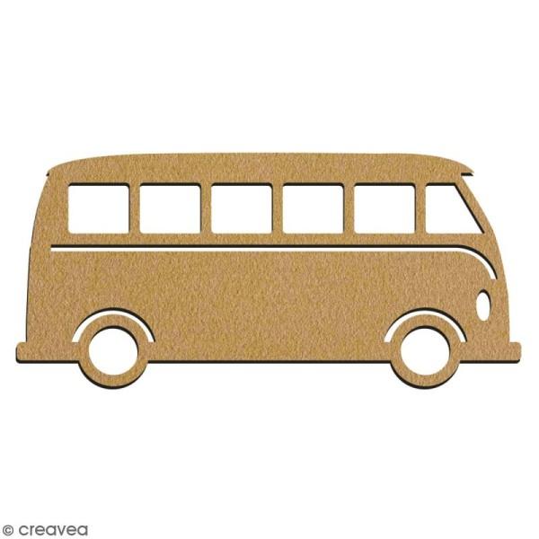 Van  en bois à décorer - 7 cm - Collection Summer - Photo n°2