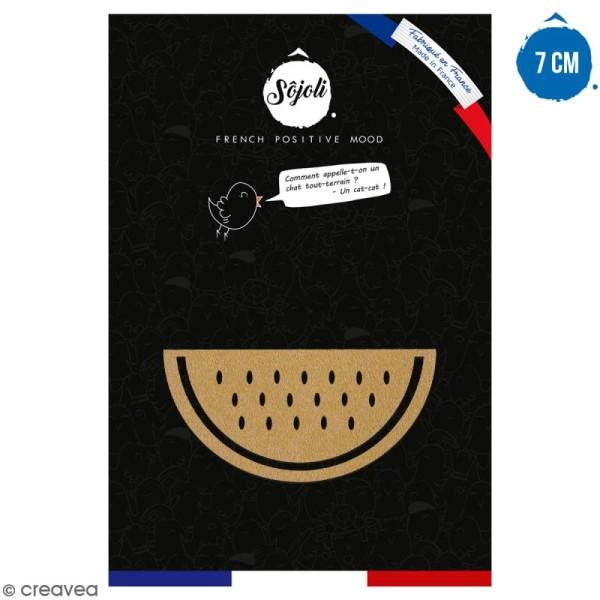 Pastèque en bois à décorer - 7 cm - Collection Summer - Photo n°1