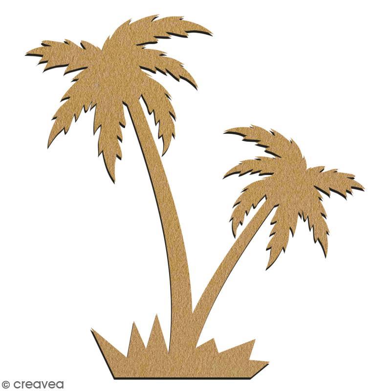 Double palmier en bois à décorer - 7 cm - Collection Summer - Photo n°2