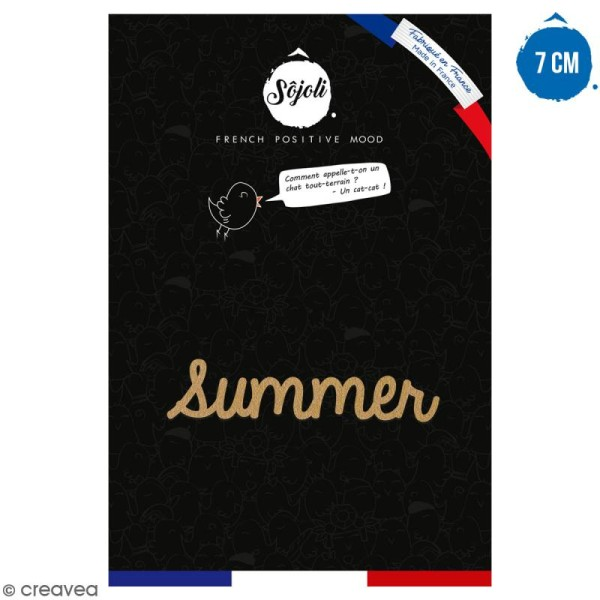 Summer en bois à décorer - 7 cm - Collection Summer - Photo n°1