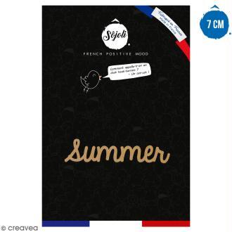 Summer en bois à décorer - 7 cm - Collection Summer