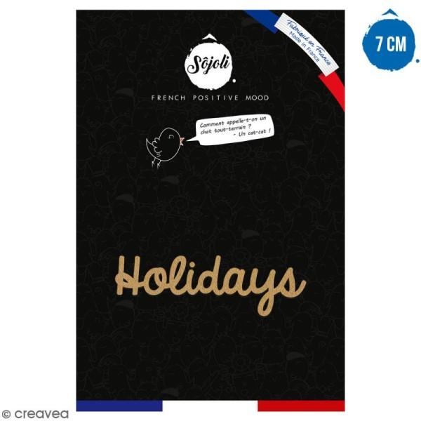 Holidays en bois à décorer - 7 cm - Collection Summer - Photo n°1