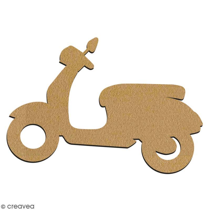 Scooter en bois à décorer - 7 cm - Collection Summer - Photo n°2