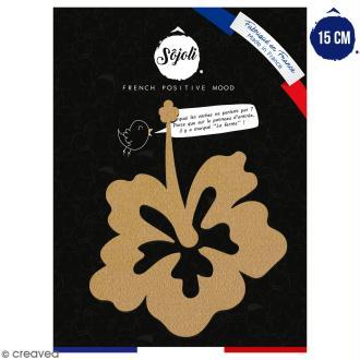 Fleur de tiaré en bois à décorer - 15 cm - Collection Summer