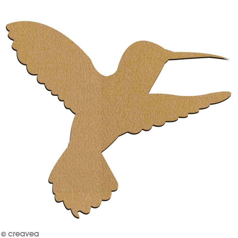Colibri en bois à décorer - 15 cm - Collection Summer - Photo n°2