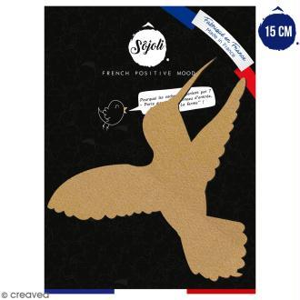 Colibri en bois à décorer - 15 cm - Collection Summer