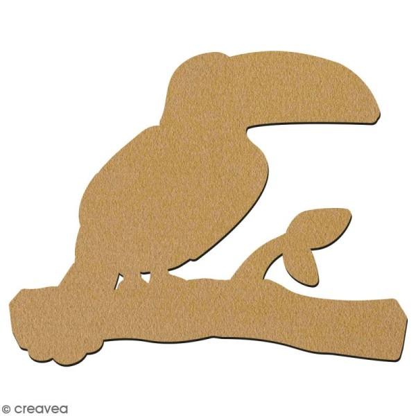 Toucan en bois à décorer - 15 cm - Collection Summer - Photo n°2