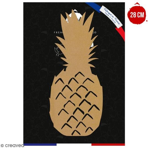 Ananas en bois à décorer - 28 cm - Collection Summer - Photo n°1