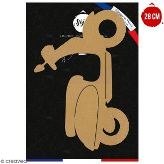 Scooter en bois à décorer - 28 cm - Collection Summer