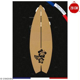 Planche de surf en bois à décorer - 28 cm - Collection Summer