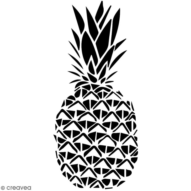Pochoir multiusage A4 - Ananas - 1 planche - Collection Summer - Photo n°2