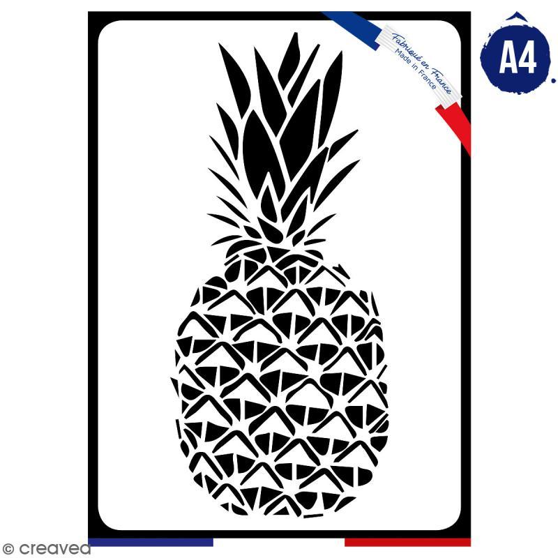 Pochoir multiusage A4 - Ananas - 1 planche - Collection Summer - Photo n°1