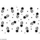 Pochoir multiusage A5 - Motif ananas - 1 planche - Collection Summer - Photo n°2