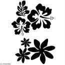 Pochoir multiusage A5 - Fleur de tiaré - 1 planche - Collection Summer - Photo n°2