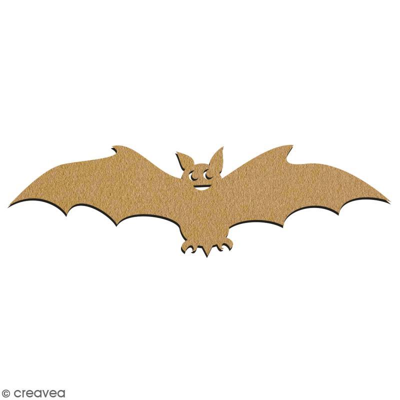 Chauve-souris en bois à décorer - 7 cm - Collection Halloween - Photo n°2